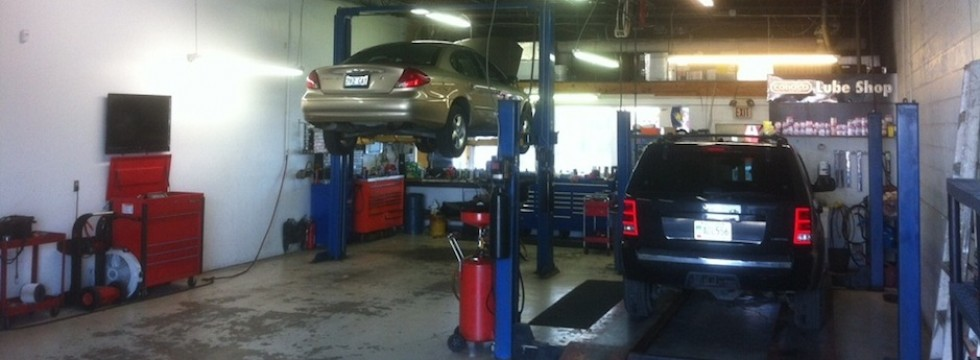 Covey's Auto and Repair Service Shop Floor